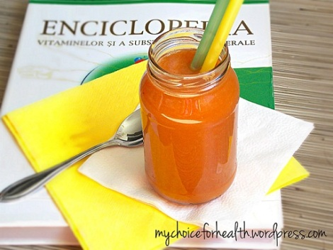 smoothie cu morcov, mar si portocala 2