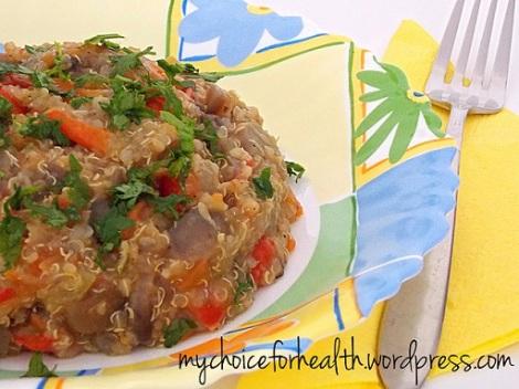 quinoa cu ciuperci si legume 2