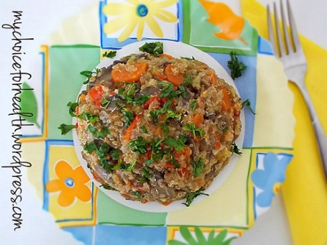 quinoa cu ciuperci si legume 3