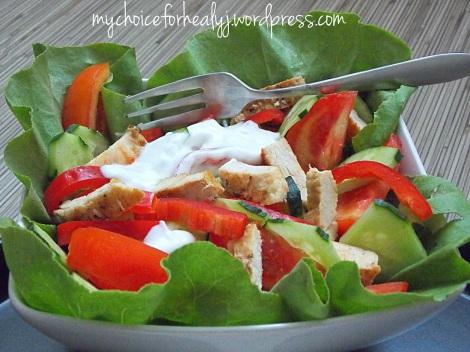 salata pui cu iaurt