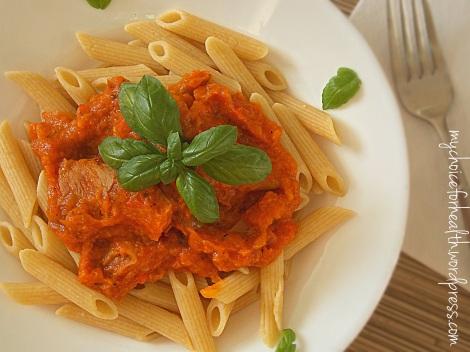 paste integrale cu ciuperci si legume 5