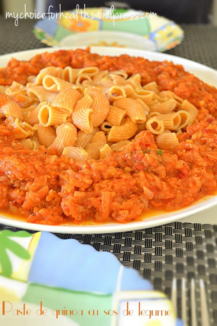Paste de quinoa cu sos delegume