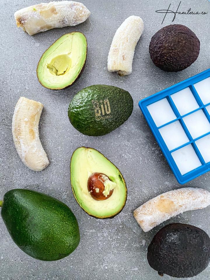 3 trucuri concrete pentru evitarea risipei alimentare (avocado, banana si lapte decocos)