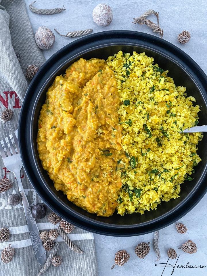 Curry Jaipur cu linte rosie sidovlecel
